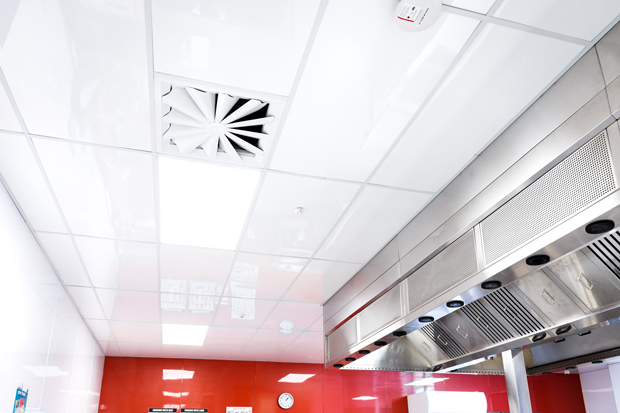 Ceiling tiles for restaurant kitchen