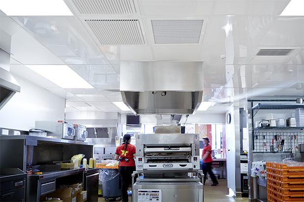 Commercial kitchen ceiling tile
