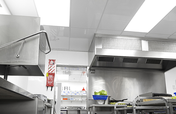 Commercial kitchen ceiling tiles: Hollywood Bakery